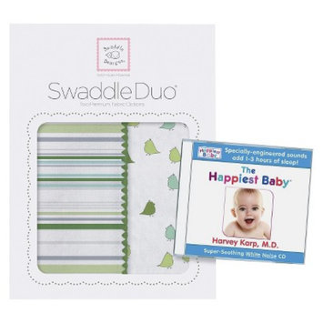 SwaddleDesigns Swaddle Designs SwaddleDuo & Dr Karp White Noise CD - Green