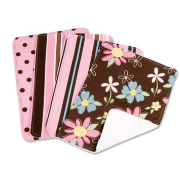 Trend Lab Blooming Bouquet Burp Cloths-4 Set-Maya/Blossoms