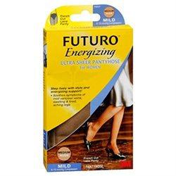 Futuro Energizing Women Mild French Cut Lace Ultra Sheer Pantyhose Med
