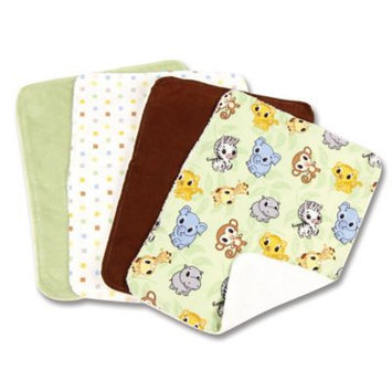 Trend Lab 101957 Blooming Bouquet Burp Cloth- 4-Pack Set