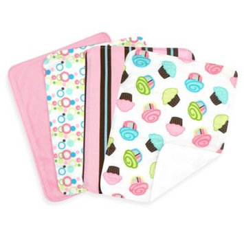 Trend Lab 101966 Blooming Bouquet Burp Cloth- 4-Pack Set