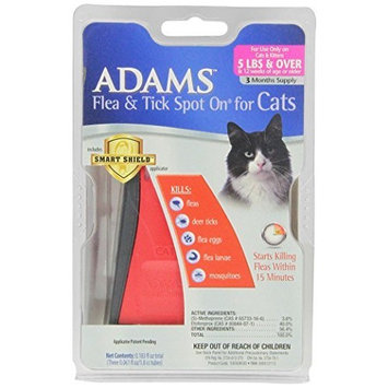Adams Adams Flea and Tick Spot On for Cats