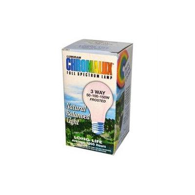 Lumiram - Chromalux 3 Way 50-100-150W Frosted Light Bulb Full Spectrum Lamp