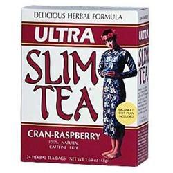 Hobe Laboratories 0208264 Ultra Slim Tea Cran-Raspberry - 24 Tea Bags