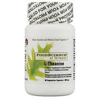 FoodScience of Vermont L-Theanine - 200 mg - 30 Vegetarian Capsules