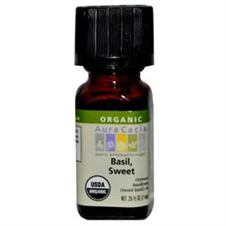 Aura Cacia Certified Organic Essential Oil - Basil, Sweet