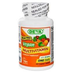 Deva Nutrition Vegan Multivitamin Mineral - Iron Free - 90 Tablets