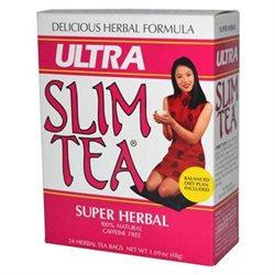 Hobe Laboratories 0208223 Ultra Slim Tea Super Herbal - 24 Tea Bags