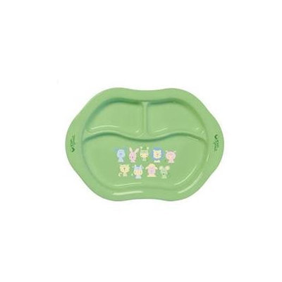 Green Sprouts Eco-Friendly Cornstarch Divided Plate Green
