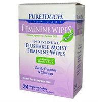 Puretouch Skin Care 0394072 Feminine Wipes Flushable - 24 Wipes