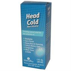 tra-bio NatraBio Head Cold Non-Drowsy - 1 fl oz