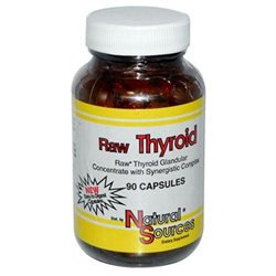 Raw Thyroid by Natural Sources - 90 Capsules