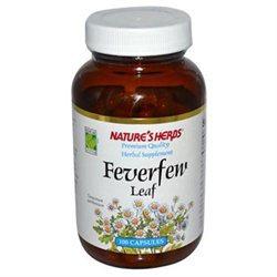 tures Herbs Nature's Herbs Feverfew Leaf - 384 mg - 100 Capsules