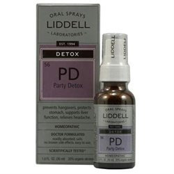 Liddell Laboratories - PD Party Detox Homeopathic Oral Spray - 1 oz.