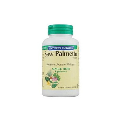 tures Answer Nature's Answer Saw Palmetto Extract - 120 Vegetarian Capsules