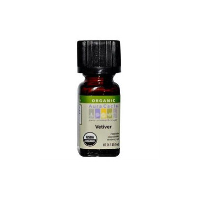 Aura Cacia Organic Essential Oil Vetiver .25 oz