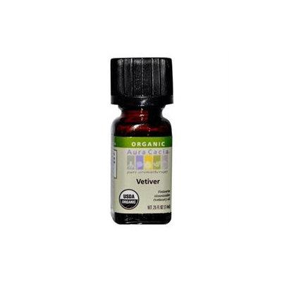 Aura Cacia Organic Essential Oil Vetiver .25 oz