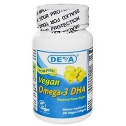 Deva Vegan Vitamins 0911743 Omega-3 DHA - 30 Softgels