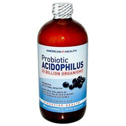 American Health Products Probiotic Acidophilus Culture Blueberry - 16 Fluid Ounces Liquid - Acidophilus / Probiotics
