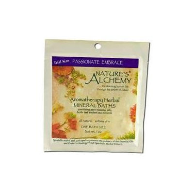 tures Alchemy Aromatherapy Herbal Mineral Baths, Passionate Embrace, 1 oz, Nature's Alchemy