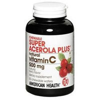 American Health Super Acerola Plus Natural Vit C Chewable Wafers
