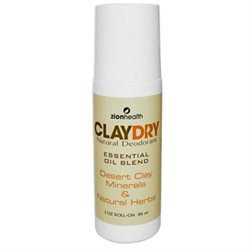 Zion Health - Clay Dry Natural Roll-On Deodorant