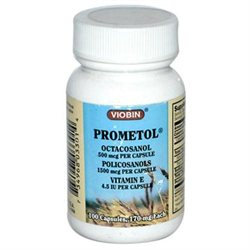 Viobin Corporation Prometol Octacosanol - 100 Capsules - Other Green / Super Foods