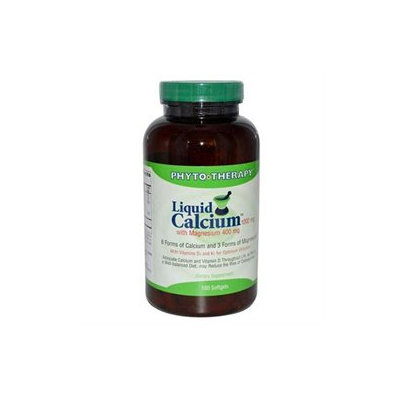 Phyto Therapy Liquid Calcium with Magnesium - 1000 mg - 180 Softgels