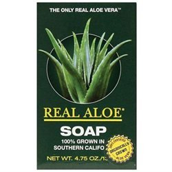 Real Aloe - Organically Grown Aloe Vera Bar Soap - 4.75 oz.