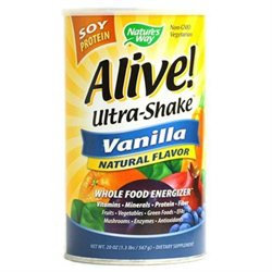 tures Way Nature's Way Alive! Ultra-Shake Soy Protein - Vanilla