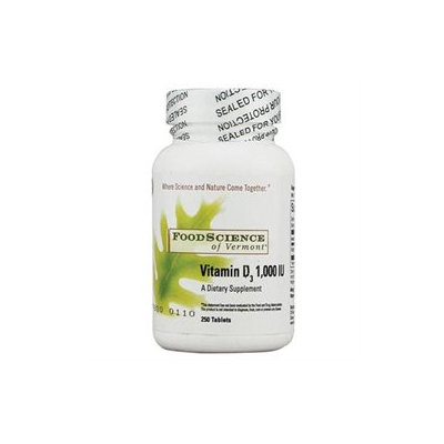 Food Science Labs 0272666 FoodScience of Vermont Vitamin D3 - 1000 IU - 250 Tablets