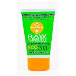 Raw Elements - Eco Formula Sunscreen 30 SPF - 3 oz.