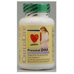Child Life Essentials 1000660 PreNatal DHA - 30 Softgels