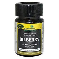 Futurebiotics Bilberry - 140 mg - 60 Vegetarian Capsules
