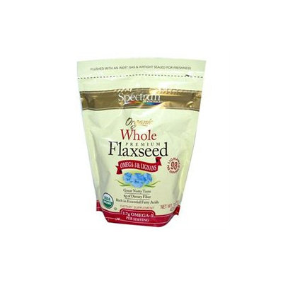 Spectrum Diversified Organic Whole Premium Flaxseed, 15 oz, Spectrum Essentials