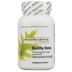 Frontier Natural Products Co-op 220020 FoodScience of Vermont Specialty Supplements Healthy Veins 60 vegetarian capsules