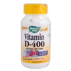 tures Way Nature's Way Vitamin D 400 IU, Dry Capsules