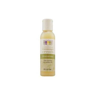 Aura Cacia - Aromatherapy Massage Cream Unscented - 4 oz.