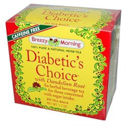 Breezy Morning Teas Diabetic's Choice with Dandelion Root 20 Tea Bags