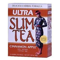 Hobe Laboratories 0208280 Ultra Slim Tea Cinnamon Apple - 24 Tea Bags