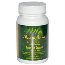 NeemAura Naturals, Neem Leaf Capsules 60 Vegetarian Capsules