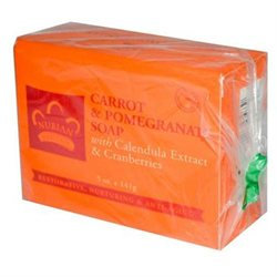 Nubian Heritage Bar Soap Carrot and Pomegranate - 5 oz