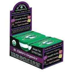 St. Claires B32308 St Claires Organics Breath Mints Spearmint -6x1.5oz