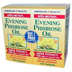 Frontier American Health Royal Brittany Evening Primrose Oil Twinpack