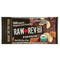 Raw Revolution - Organic Live Food Bar Raw Rev 100 Calorie Chocolate Crave - 0.8 oz. formerly Chocolate & Cashew