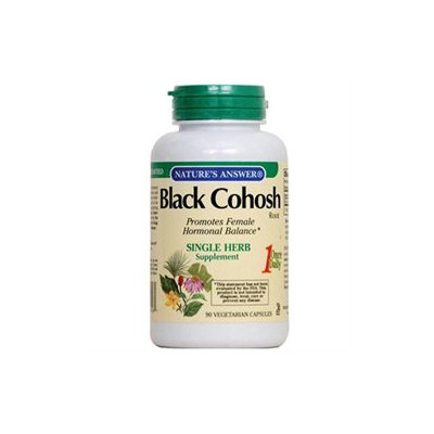 tures Answer Nature's Answer, Black Cohosh Root 90 Vegetarian Capsules