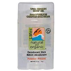 Lafes Natural Body Care 0635136 Natural Deodorant Stick Powder - 2.5 oz