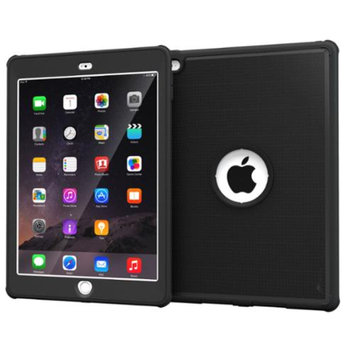 iPad Air 2 Case - roocase VersaTough Orb System iPad Air 2 2014 Armor Case PC / TPU Tough Case Cover with Built-in Screen Protector for iPad Air 2 (2014) 6th Generation Latest Model, Granite Black