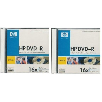 H.P. HP DVD-R 16X 4.7GB 120min 2(5)Packs Total of 10 Disks with Jewel Cases