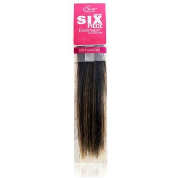 Evita 100% Human Hair Six Piece Clip In Extension 14 Inch Color F2/4/27